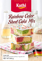 Rainbow Color Sheet Cake Mix
